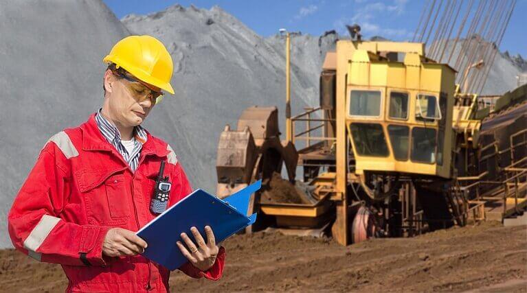 Mining Worker Wearing Bifocal Safety Glasses