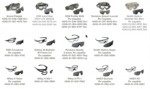 Current APEL Eyewear List - April 2011