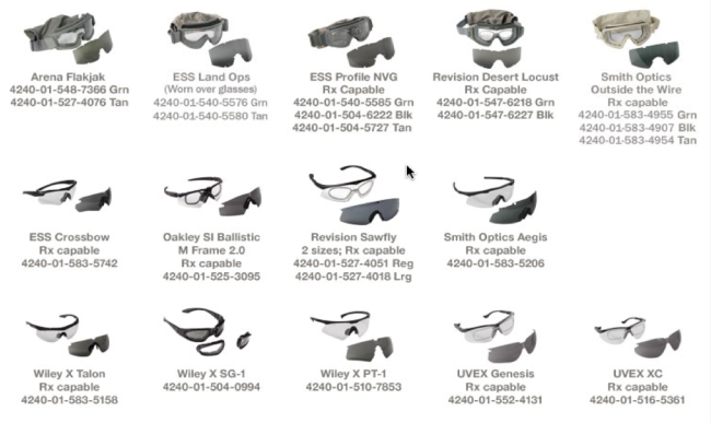 APEL Eyewear List