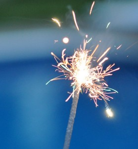 Sparklers can burn at 1800 degrees! Safety Glasses should be worn at all times.