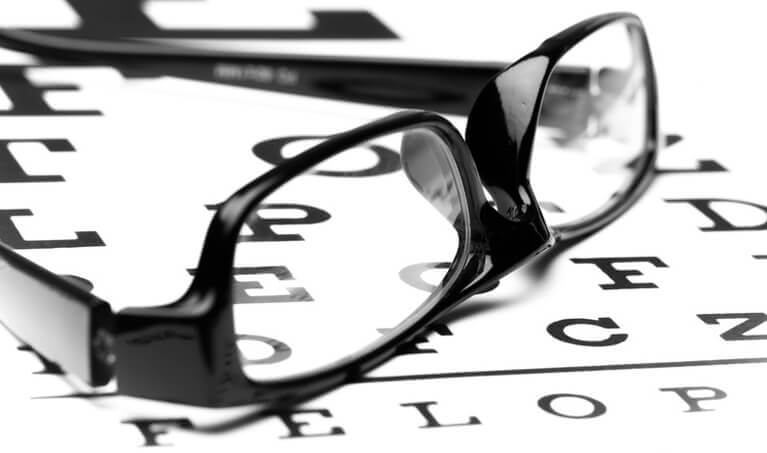Bifocals on Eye Chart
