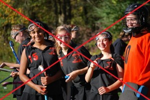 Cage style goggles are no longer permitted for field hockey use.