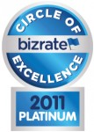 Bizrate Circle of Excellence Platinum Award 2011
