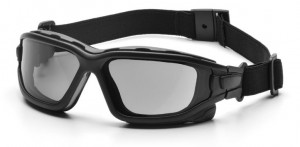 The Pyramex I-Force can be transformed into a high performance goggle quickly and easily.