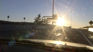 Windshield Glare While Driving
