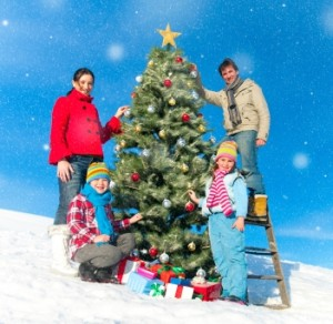 Decorating a Christmas Tree is a family tradition, but use caution as it's a source for many household injuries.