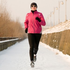 Oakley Sunglasses will help protect your eyes from excessive glare and UV radiation while running this winter.