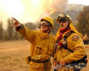 Firefighter's should always wear the appropriate goggles or safety glasses to protective themselves from hazardous debris.