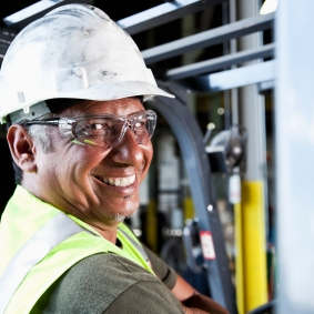 Safety Glasses Make a Worker Happy