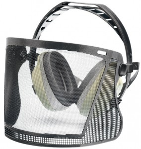 Elvex BrushGuard w/27dB NRR Equalizer Earmuffs and Face Shield