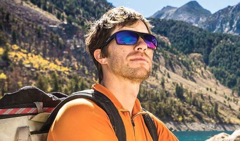 Hiker Wearing Wiley X Sunglasses