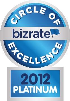 Bizrate COE Platinum 2012 Award