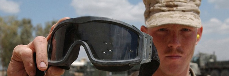 ess goggles with shrapnel in lens