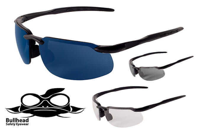 Bullhead Kingfish Safety Glasses with Polarized/Photochromic Lenses