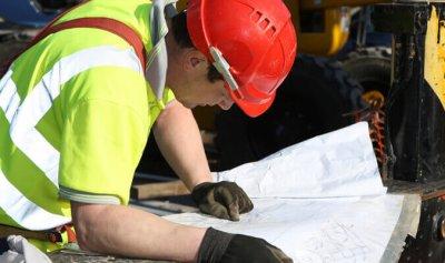Worker Wearing Hi-Viz Vest