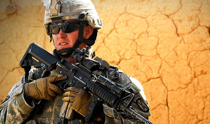 Ballistic-rated sunglasses are a popular choice for todays military and law enforcement personnel.