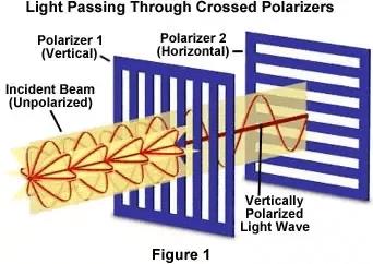 Light Passing Through Crossed Polarizers