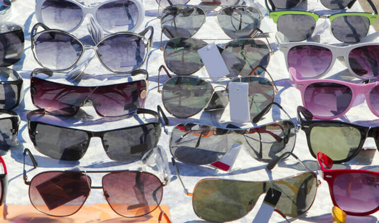 Sunglasses Variety On Table
