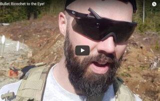 Bullet Fragment Hits Eyewear