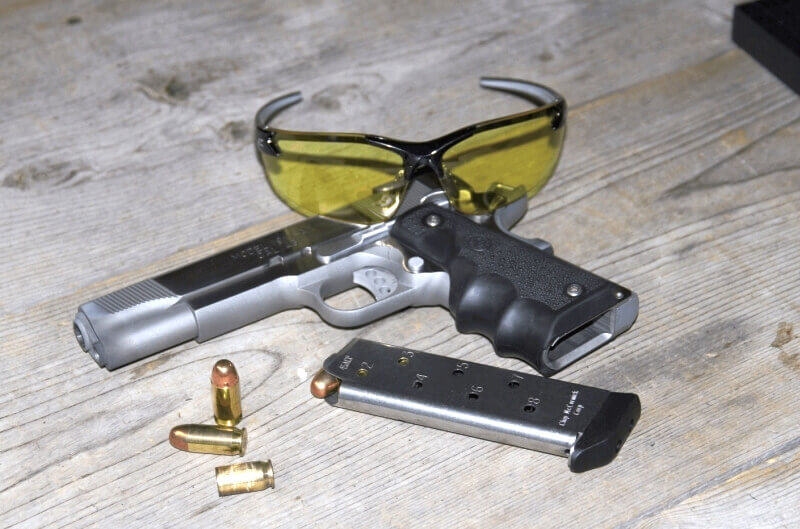 Springfield Armory 1911 with Ballistic-Rated Shooting Glasses