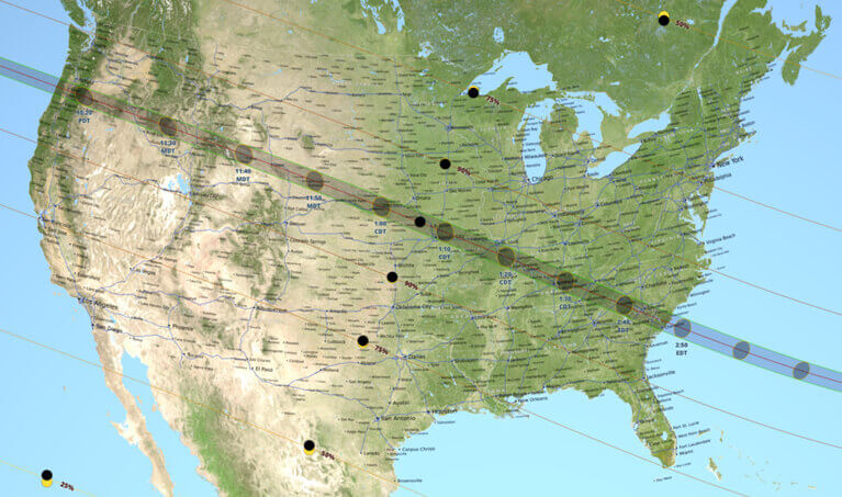 Solar Eclipse Map