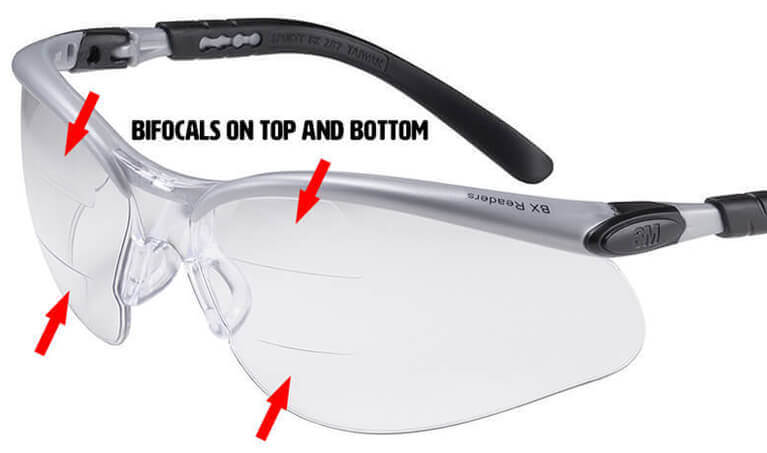 M Bx Bifocal Safety Glasses