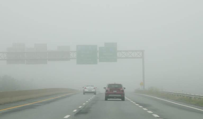 Driving In Fog Daytime
