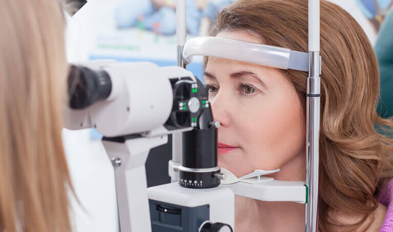 Woman Eye Exam