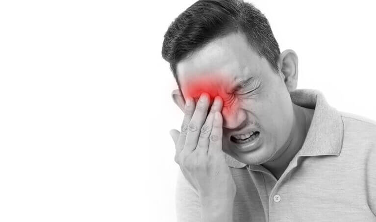 Man With Eye Pain