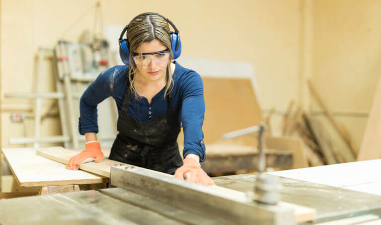 Woman Table Saw Earmuffs