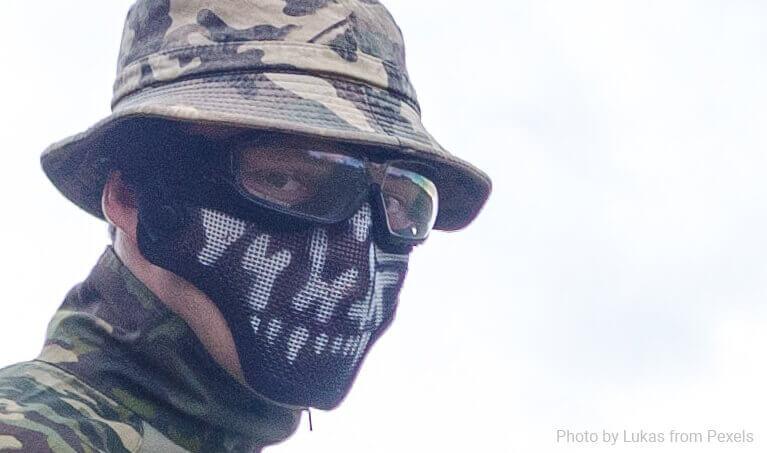 Airsoft Goggles Closeup