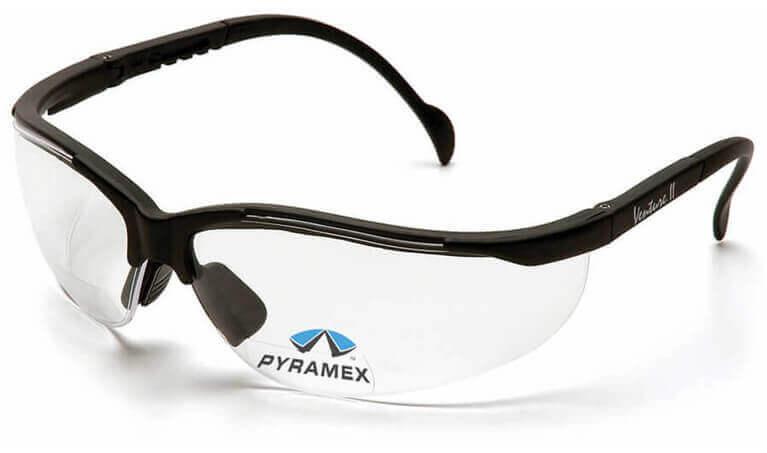 Pyramex V2 Reader Bifocal Safety Glasses Clear Lens
