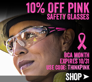 10% OFF Pink Safety Glasses