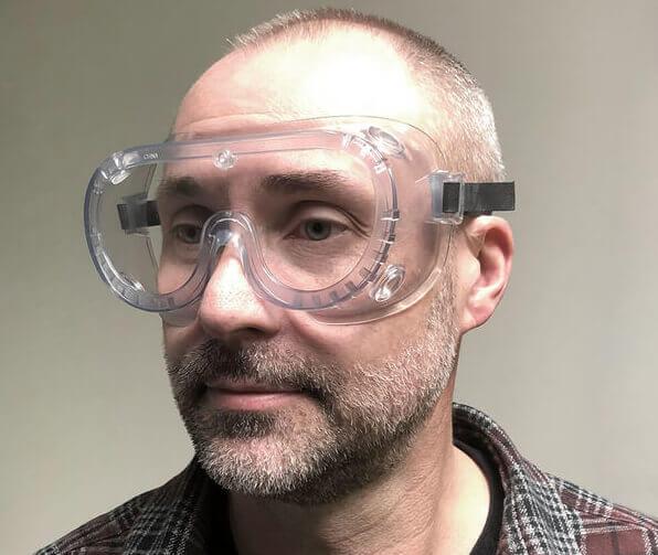 Crews 2237R Non-Vented Chemical Splash Goggle