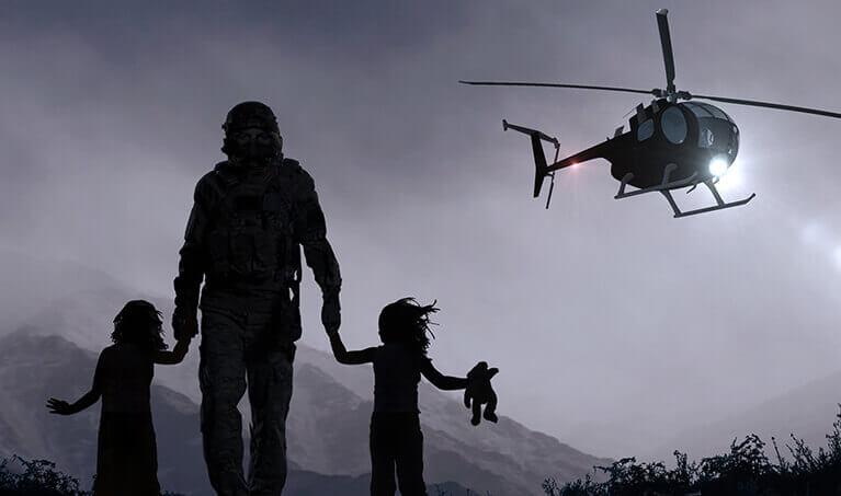 Phantom Rescue Soldier with Children