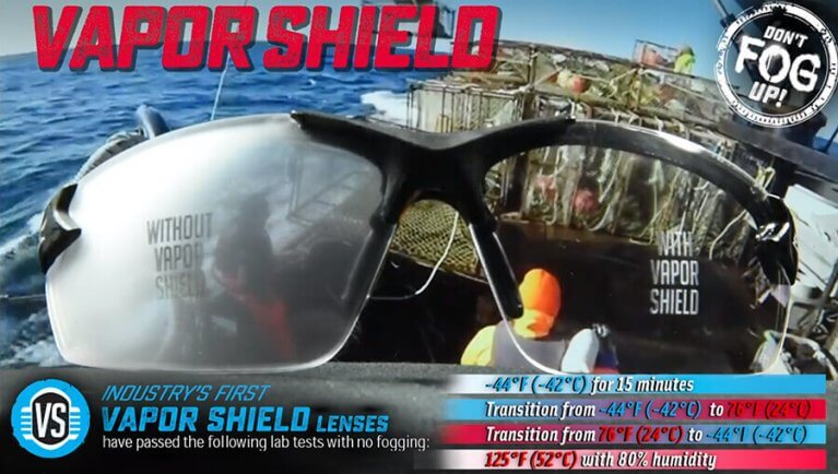 Edge Vapor Shield Anti-Fog Safety Glasses