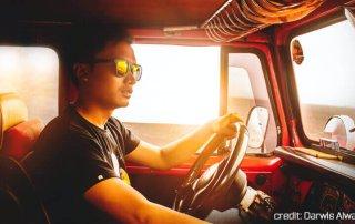 Driving Wearing Polarized Sunglasses