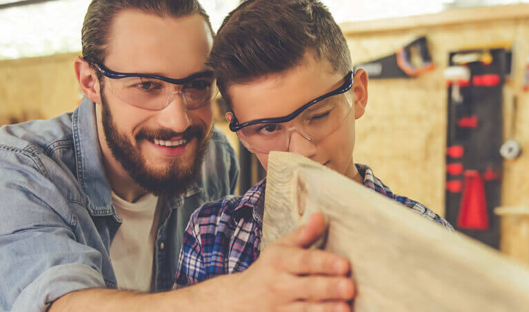 Father and Son Woodworking Safety Glasses